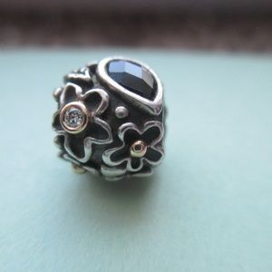 Authentic Pandora dew drops, diamond retired bead